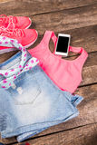 Women's casual clothes Royalty Free Stock Photography