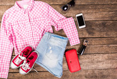 Women's casual clothes Stock Photography