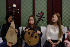Women's chamber orchestra Royalty Free Stock Photo