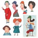 Women's characters Stock Photos