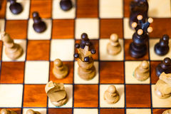 Women`s chess from above Royalty Free Stock Photo