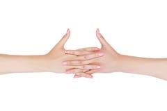 Women's clasped hands. Stock Image