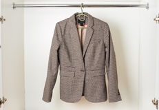 Women's classic English-style jacket Royalty Free Stock Photo