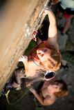 Women's climbing Stock Images
