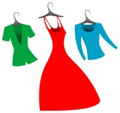 Women's clothes Royalty Free Stock Images