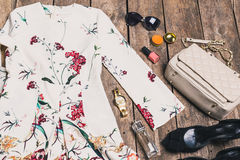 Women's clothes and accessories Stock Photos