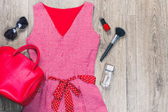 Women's clothes and accessories Stock Image
