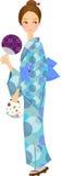 Women's clothing. This is an illustration of a female kimono Stock Photos