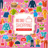 Women's clothing and accessories Royalty Free Stock Photography