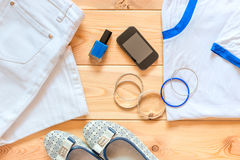 Women's clothing and accessories Stock Image