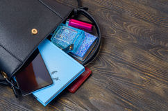 Women`s clutch bag Stock Photography