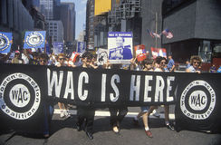 Women's Coalition marching in New York Stock Photo