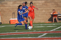 Women's College Soccer Royalty Free Stock Photography