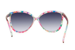 Women's colorful sunglasses on white background Royalty Free Stock Image
