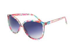 Women's colorful sunglasses on white background Stock Photography