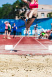 Women's competitions in athletics Royalty Free Stock Photos