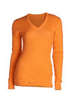 Women`s  coral sweater Stock Images