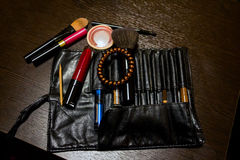 Women`s cosmetic bag Stock Images