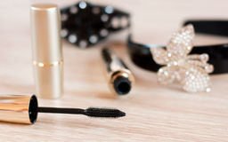 Women's Cosmetics and Accessories Stock Photos
