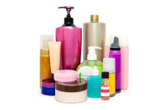 Women`s cosmetics. Objects and means to care for a woman`s face and body Royalty Free Stock Photos
