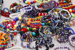 Women's costume jewelry Stock Photos