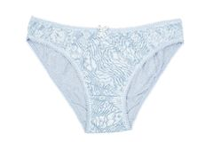 А women's cotton panties blue with lace Royalty Free Stock Photos