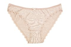 A women's cotton panties brown flowered Royalty Free Stock Photo