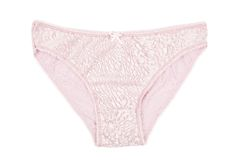 A women's cotton panties pink with lace Stock Photos