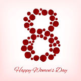 Women`s day background Stock Photography