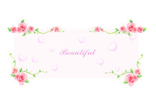 Women`s Day banner pink flowers background Stock Image