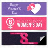 Women\'s day banner set. For web design and application interface, also useful for infographics. Vector illustration Stock Illustration