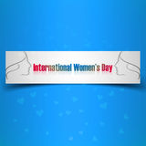 Women's day blue colorful card presentation  Royalty Free Stock Photography
