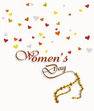 Women's day card element for heart colorful background Stock Photos