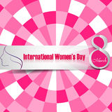 Women's day card element for texture colorful Stock Photo