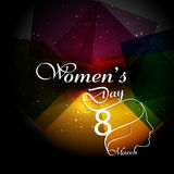 Women's day card greeting card or background lady face colorful Stock Image