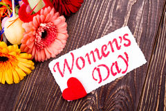 Free Women`s Day Card With Heart. Stock Photos - 82048523