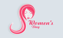 Womens Day celebration with young girl face. Stock Images