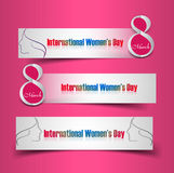 Women's day colorful three header set  Stock Photography