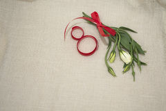 Women`s day. A delicate bouquet for women on international women`s day Royalty Free Stock Images