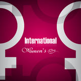 Women's day element for colorful background Royalty Free Stock Photo