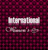 Women's day element for creative colorful background Stock Image