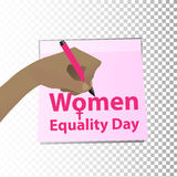 Women`s Day. feminism. The hand Stock Images