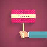 Women's Day Flyer Poster. Women's Day, 8 March Royalty Free Stock Photo