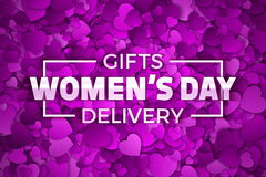 Women`s Day Gifts Vector Illustration Stock Images