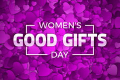 Women`s Day Good Gifts Vector Illustration Royalty Free Stock Photo