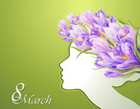 Women's day Greeting Card Stock Images
