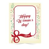 Women s day greeting card march. Happy Women s day greeting card march 8, design Stock Photos