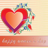 Women's day greeting card. March 8 International Women's Day greeting card stock illustration