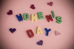 Women`s day greeting card Stock Photos