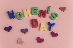 Women`s day greeting card Stock Photo